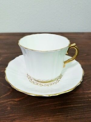 Vintage Old Royal Bone China No. 2955 Footed Cup And Saucer