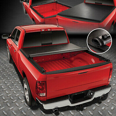 For 99-18 Ford Super Duty 6.5Ft Fleetside Bed Soft Vinyl Roll-Up Tonneau Cover
