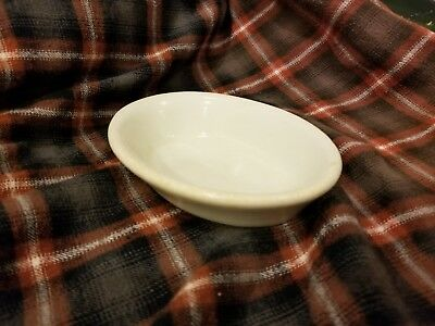 Vintage Farmhouse Oval Ivory Carr Co. Ironstone Soap Dish
