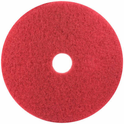 """3M Red Buffer Pad 5100, 17"""", 5/Case, Lot of 1"""