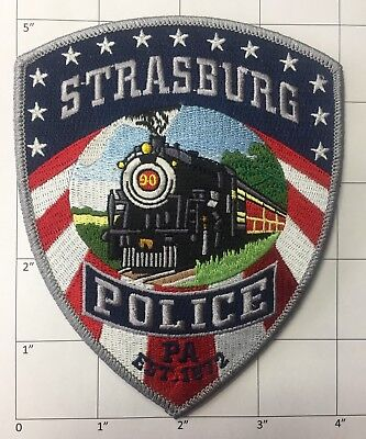 POLICE SHERIFF TRAIN patch  Strasburg (PA) Police Dept  American flag patch