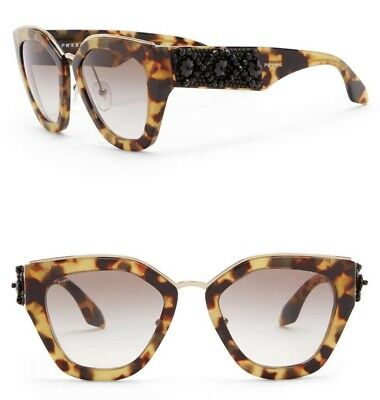 7ca5293222 PRADA ORNATE Sunglasses SPR 10T Havana Brown Black Beads Women Gradient  PR10TS