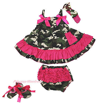 Xmas Sports Baseball Ball Baby Girl Red White Swing Top Bloomer Outfit Set NB-2Y