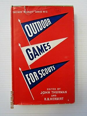 Vintage Boy Scouts Book - Outdoor Games For Scouts 1961 - Postage $4.00