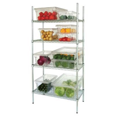 Vogue 4 Tier Wire Shelving Kit 1525 x 460mm Galvanised Zinc