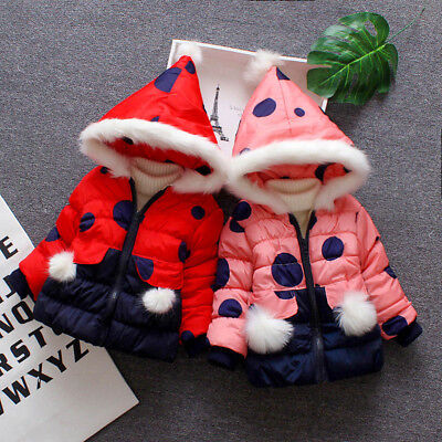 Lively Kids Baby Girls Winter Cartoon Coat Jacket Thick Warm Hooded Outerwear US