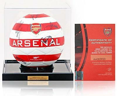 ARSENAL FC 2013/14 FA Cup Winning Squad Hand Signed Football Ball