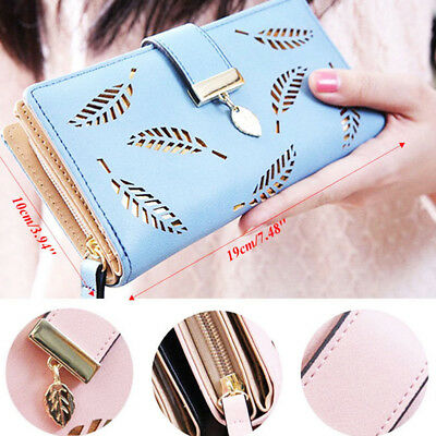 Fashion Women Bifold Wallet Leather Clutch Card Holder Purse Lady Long Handbag Y