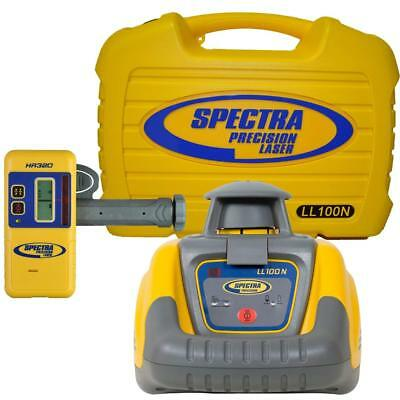 Spectra LL100N Laser Level, With HR320 Receiver, Tripod & Staff Kit- Brand New