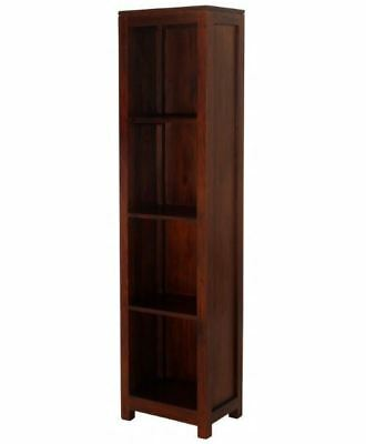 AMSTER Narrow Tall  Bookcase - Mahogany Timber  - 1800H X 450W  - Mahogany   Fin