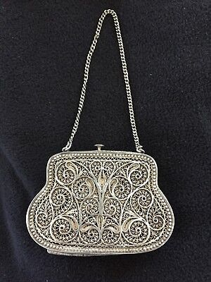 SALE--MUST GO--Antique Filigree Steriling Silver Colectib Small Wallet--RUSSIAN