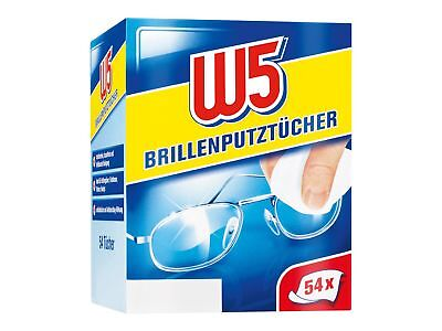 W5 Pre-Moistened Cleaning Lens Cloths 54 Pcs Wipes Glasses Camera Phone