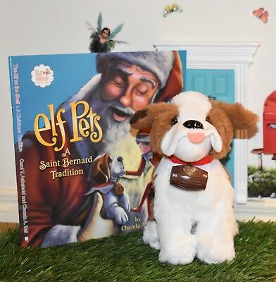 Saint Bernard elf pets and book set