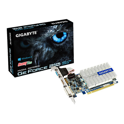 Gigabyte GeForce 210 1GB DDR3 Low Profile 0db Blende 64-bit PCIe (GV-N210SL-1GI)