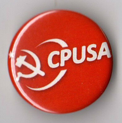 Communist Party USA campaign button pin early 2010s #2