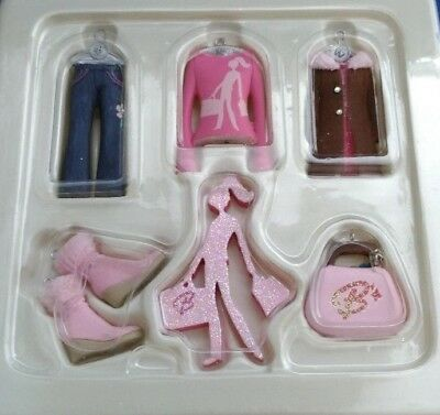 Barbie Fashion Minis Collection Christmas Ornaments EXCELLENT Appears Unused