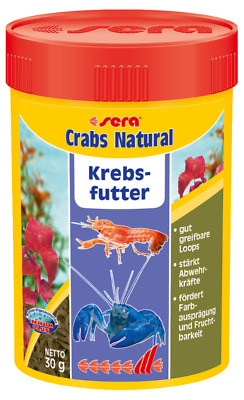 sera Crabs Natural 100ml Krebs Hauptfutter Süßwasser Meerwasser Aquarium
