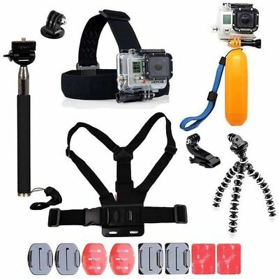 Accessories Kit Action Camera & GoPro Accessory Bundle Head Mount Chest Strap