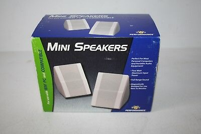 Interact  Advent Mini Speakers For Computers & Audio Ibm Compatible New