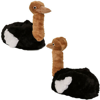bc4eac5c41c Loungeable Womens Oliver Ostrich 3D Bird Slippers Ladies Novelty Indoor  Shoes