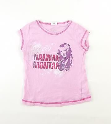George Girls Pink Graphic T-Shirt Age 7-8