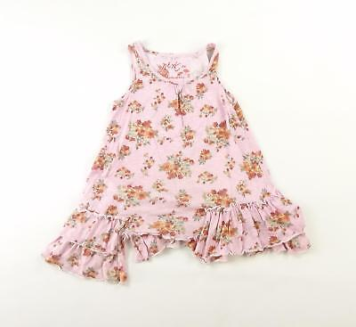 Next Girls Pink Floral Top Age 6