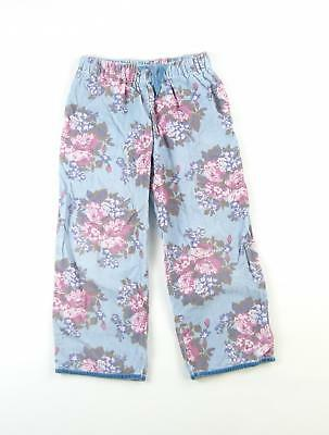Boden Girls Blue Floral Trousers Age 5-6