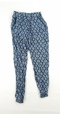 Young Dimension Girls Blue Geometric Trousers Age 9-10