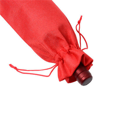 Rustic Wine Bottle Covers Drawstring Party favors Natural Burlap Gift 15*35cm