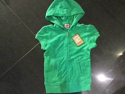 """NWT Juicy Couture New & Gen. Ladies Small Green Cotton Hoody With """"J"""" Zip Pull"""