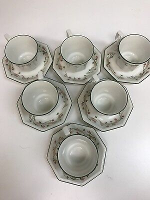 Johnson Brothers Eternal Beau Coffee cups and saucer (6 cups and 6 saucers)