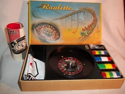 Vintage Toy Roulette Game Made in Japan Original box With All Parts Mid Century