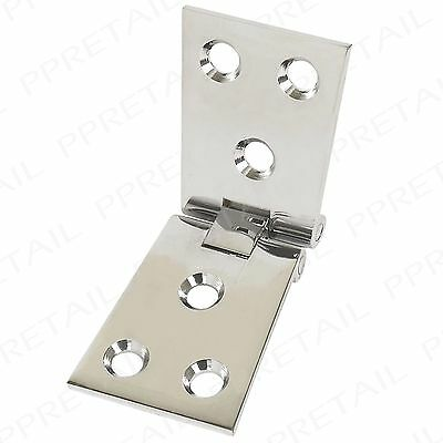 2 x Polished Chrome Premium Tapered Counterflap Hinges Bar/Pub Counter Flap Top