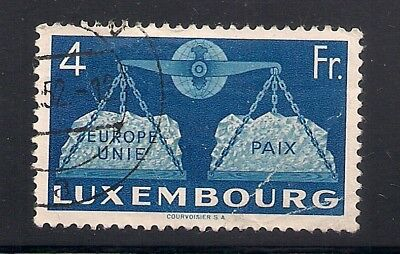 Luxembourg  1951  Sc #277(4fr)  Used   Scv.$40  (41766)