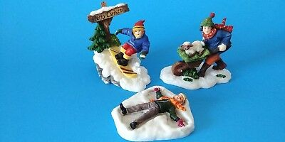 Holiday Time O'Well Lemax Christmas Village People Figurines Accessories Lot 3