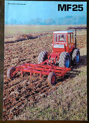 Massey Ferguson MF25 Heavy Duty Chisel Plough Brochure 1977. MF1200 Tractor.