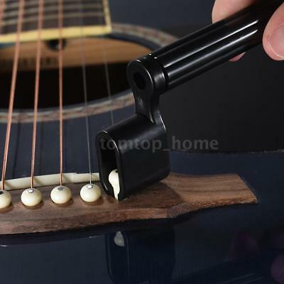 Plastic Acoustic Electric Guitar Bass String Peg Winder Bridge Pin Puller M2G6