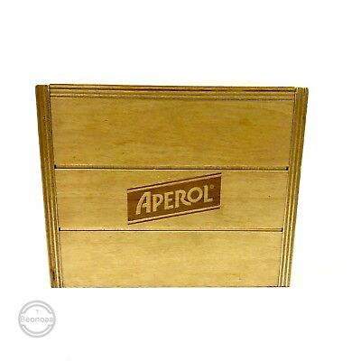 Aperol Holzsockel Box Serviertablett Tablett Holz Kiste Bar