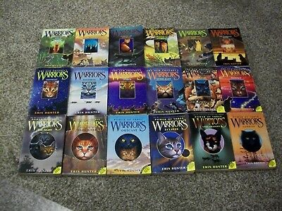 Lot of 18 Warriors Series Erin Hunter New Prophecy Power of Three First Series