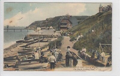 Rare Vintage Louis Levy Ll Postcard Totland Bay, The Beach, Isle Of Wight