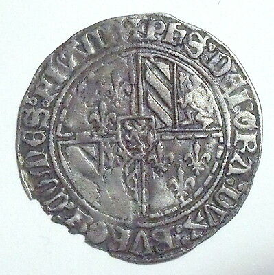 FLANDERS - Philip the Good (1419-67) Double gros dit Vierlander - Silver - XF+