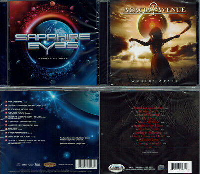 2 CDs, Sapphire Eyes - Breath Of Ages +1 & Acacia Avenue - Worlds Apart (2018)