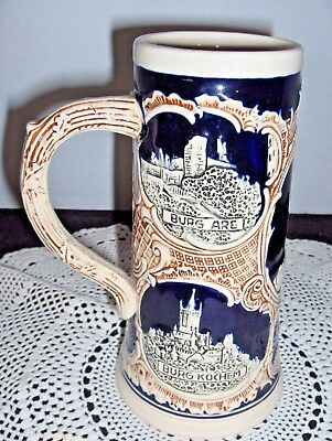 German Stoneware Beer Stein Pottery Marzi & Remi
