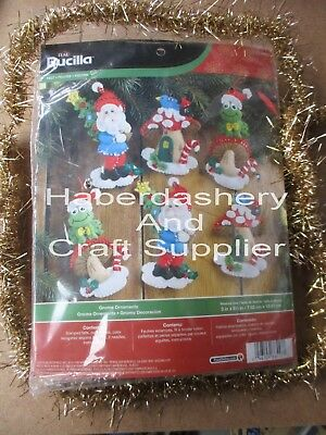 Bucilla Christmas Gnome Ornaments Felt Kit