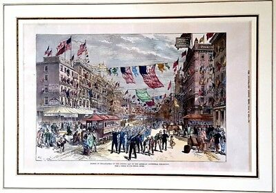 Framed 1876 The Illustrated London News: AMERICAN CENTENNIAL EXHIBITION, PHILA
