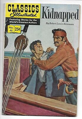 Classics Illustrated #46 [HRN 169] - Kidnapped (Summer 1970, Gilberton) VG/FN