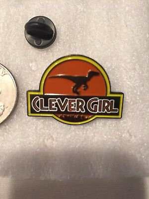 Jurassic Park Clever Girl Velociraptor Lapel Pin Free Shipping Within USA