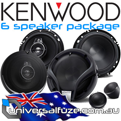 Kenwood 6 Speaker M series PS Series combo package [Vehicle Specific: BF Falcon]