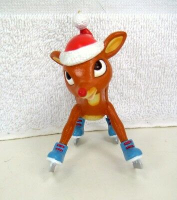 Ice Skating RUDOLPH RED-NOSED REINDEER Xmas Ornament