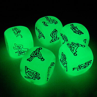 Cube Lover's Dice Adult Sex Games Glowing Luminous Bachelor Party Humour Toys